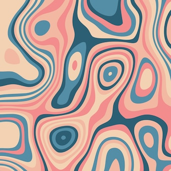 Fondo abstracto con diseño topográfico colorido