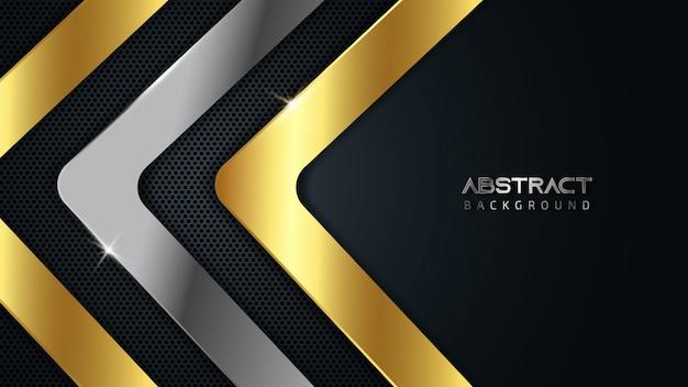 Fondo abstracto dorado y plateado