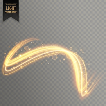 Fondo abstracto efecto de luz dorada