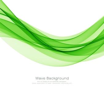 Fondo abstracto elegante ola verde