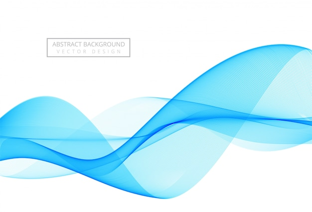 Fondo abstracto elegante onda azul