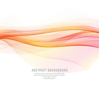 Fondo abstracto elegante onda colorida