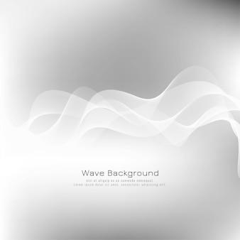 Fondo abstracto elegante onda gris