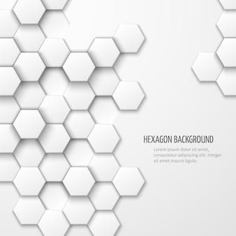 Fondo abstracto con elementos hexagonales. fondo geométrico empresarial