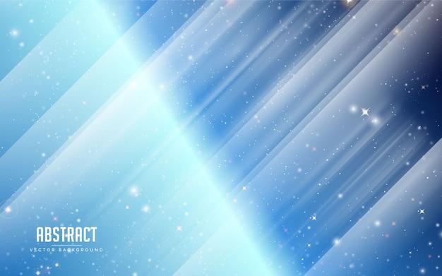 Fondo abstracto estrella y cristal con colores azul y blanco. minimalista moderno eps 10
