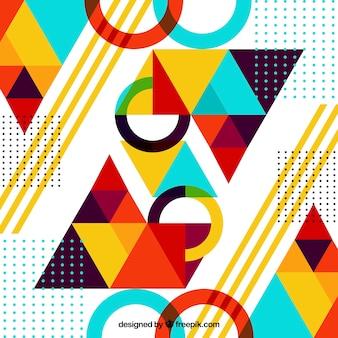 Fondo abstracto con figuras geométricas
