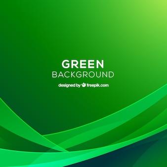 Fondo abstracto con figuras verdes