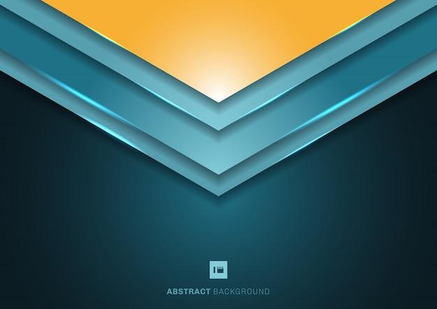 Fondo abstracto flecha azul