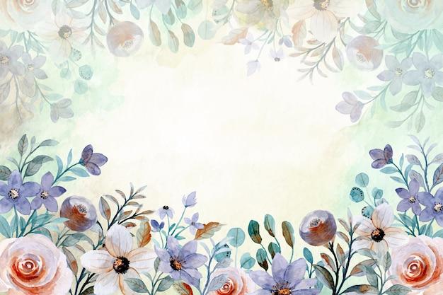 Fondo abstracto floral acuarela