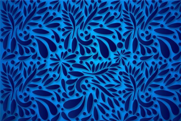 Fondo abstracto de flores ornamentales