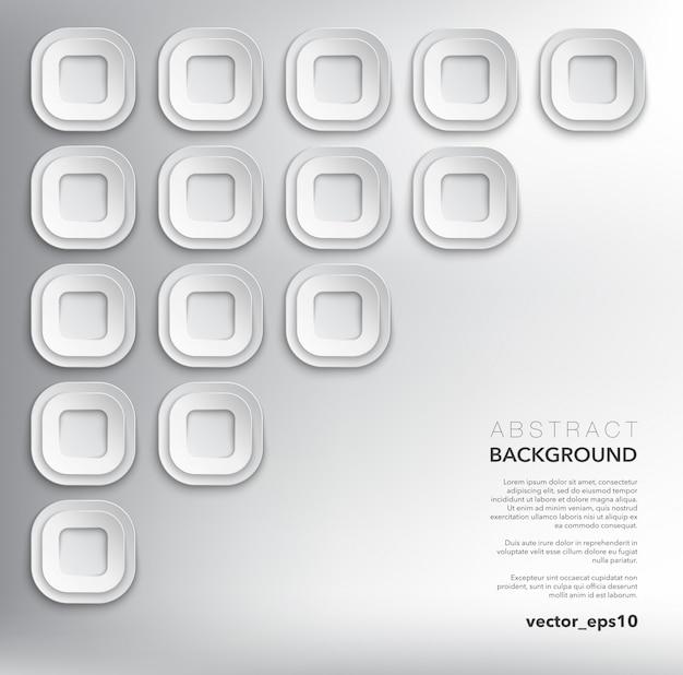 Fondo abstracto. fondo geométrico blanco
