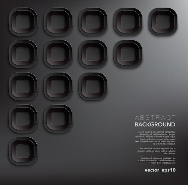 Fondo abstracto. fondo geométrico negro