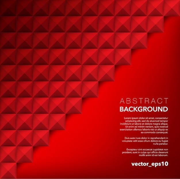 Fondo abstracto. fondo geométrico rojo