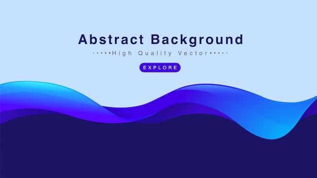 Fondo abstracto con forma del chapoteo de la onda de agua en color azul.