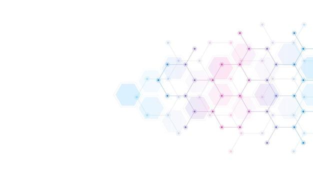 Fondo abstracto de forma de hexágonos