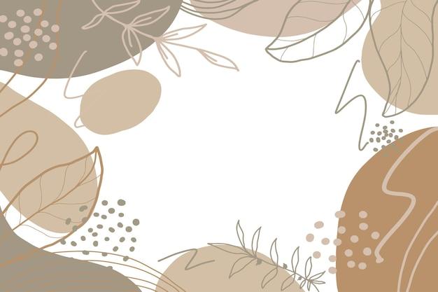 Fondo abstracto de forma minimalista dibujada a mano con color pastel vector gratuito