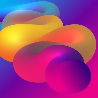 Fondo abstracto con forma que fluye del estilo 3d
