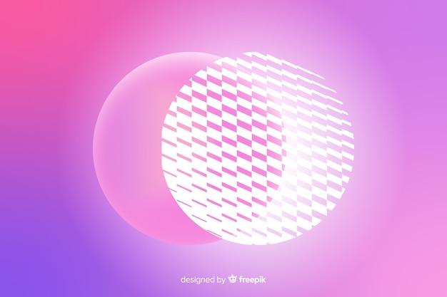Fondo abstracto con formas en 3d