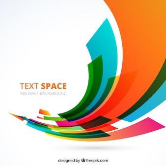 Fondo abstracto con formas de colores