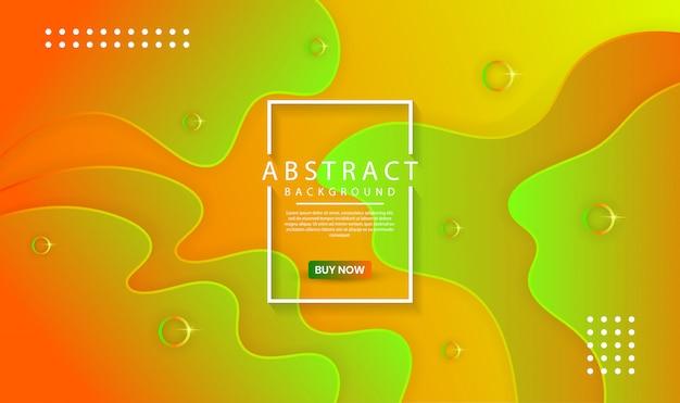 Fondo abstracto con formas dinámicas de colores y ondas