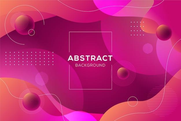 Fondo abstracto con formas dinámicas