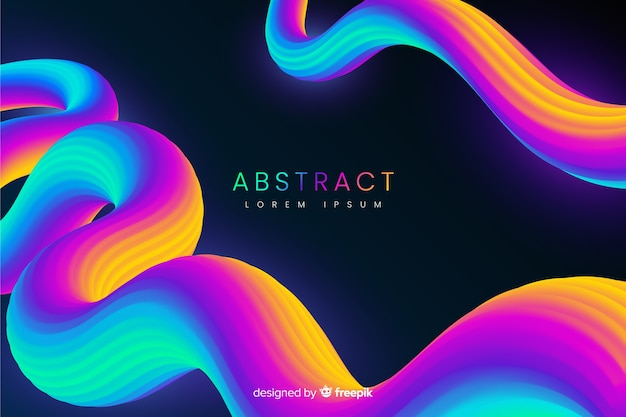 Fondo abstracto con formas fluidas en 3d
