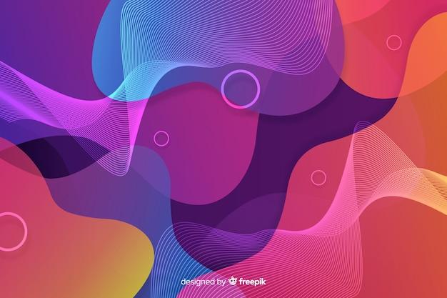 Fondo abstracto de formas fluidas coloridas