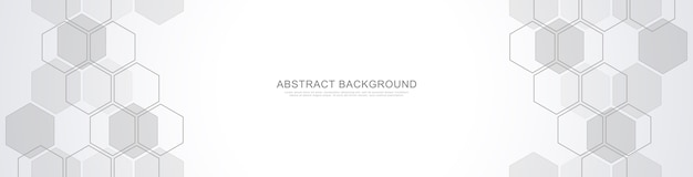 Fondo abstracto con formas geométricas y hexágono. diseño de medicina, tecnología o ciencia.
