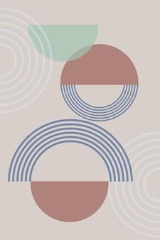 Fondo abstracto con formas geométricas y líneas