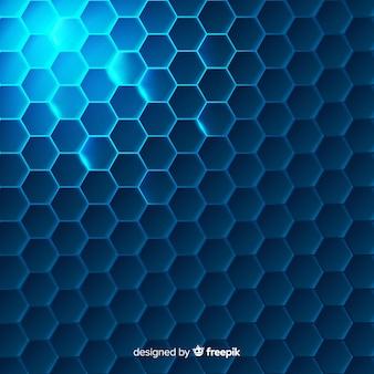 Fondo abstracto con formas hexagonales