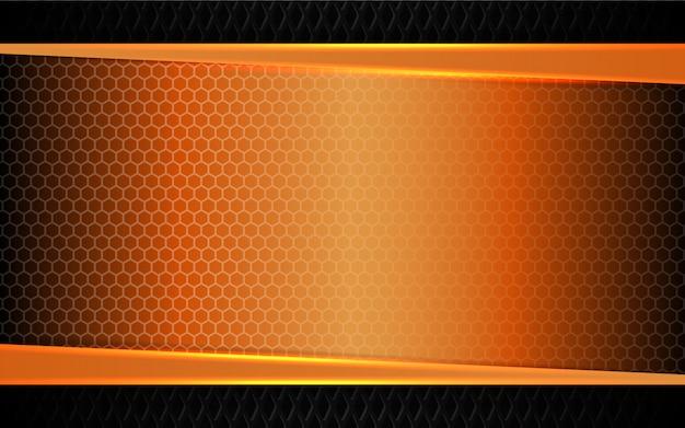 Fondo abstracto de formas de metal naranja
