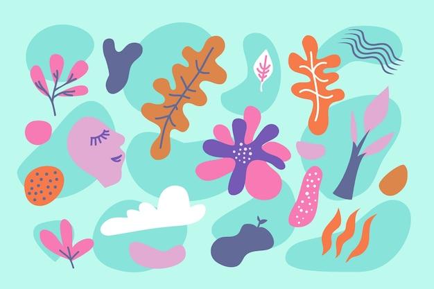 Fondo abstracto formas orgánicas en tonos azules