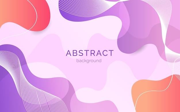 Fondo abstracto con formas orgánicas