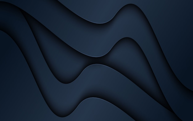 Fondo abstracto de formas de papercut 3d oscuro.