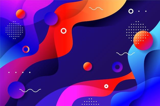 Fondo abstracto con formas y puntos