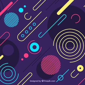Fondo abstracto con formas redondeadas coloridas