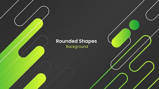 Fondo abstracto formas redondeadas gris oscuro y verde