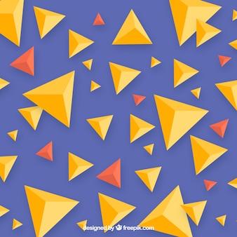 Fondo abstracto con formas triangulares