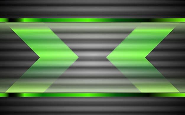 Fondo abstracto de formas verdes de metal