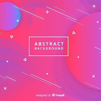 Fondo abstracto con formas