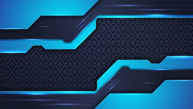 Fondo abstracto futurista con combinación de líneas de puntos de luz brillante