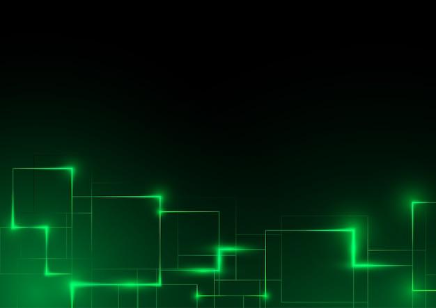 Fondo abstracto futurista verde