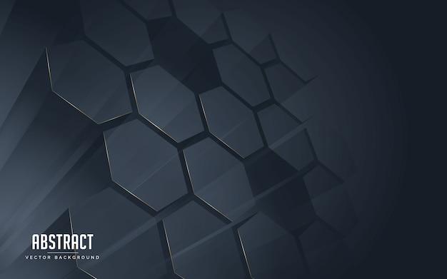 Fondo abstracto geométrico color de línea negro y dorado.