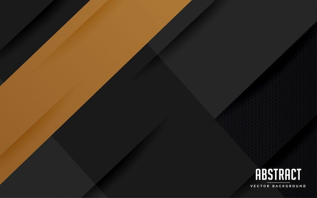 Fondo abstracto geométrico color negro y dorado