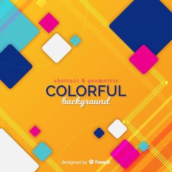 Fondo abstracto, geométrico y colorido