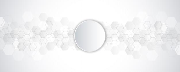 Fondo abstracto geométrico con elementos de hexágonos