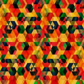 Fondo abstracto geométrico con hexágonos superpuestos