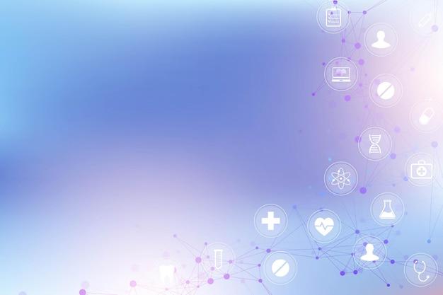 Fondo abstracto geométrico con línea conectada y puntos ilustración