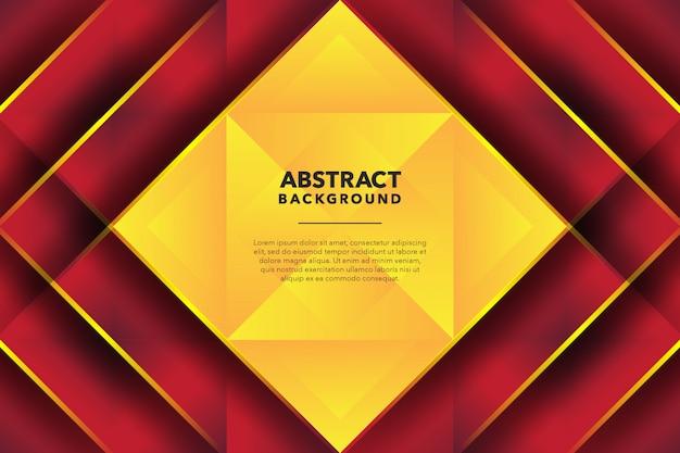 Fondo abstracto geométrico moderno amarillo rojo