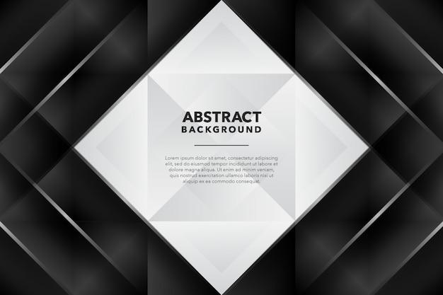Fondo abstracto geométrico moderno blanco negro